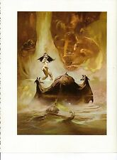 """1975 full Color Plate """"At the Earth's Core"""" by Frank Frazetta Fantastic GGA"""