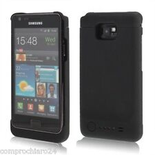 Custodia Caricabatterie Nera 2200mAh per Samsung Galaxy S2 - Cover Power Charger