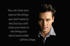 Johnny Depp Art Silk Fabric Motivational Inspirational Poster Printing