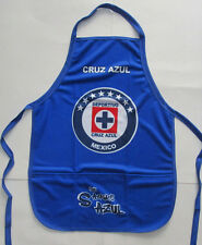 Unisex's Cruz Azul Apron, New Blk Blue White Red Mandil Maquina Del Cruz Azul