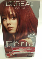 L'OREAL FERIA MULTI-FACETED SHIMMERING 3x Highlights RICH AUBURN #67 WARMER NEW.