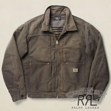 $590 RRL Ralph Lauren 1930s Rugged Lined Cotton JASPÉ WORK JACKET COAT-MEN- L