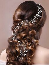 Venusvi Crystals Bridal Wedding Headband Hair Vine and Bride Headpiece 19.7''