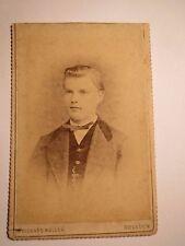 Dresden - junger Mann - Seminarist im Anzug - Portrait / CDV