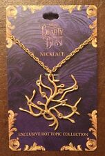 Disney Beauty & The Beast Live Action Movie Rose Tree Replica Necklace Gift NWT!