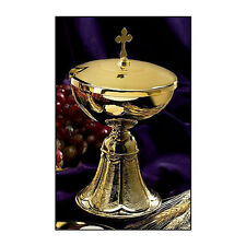Stunning Ciborium with Cross Cover Made of 100% Food Safe Brass