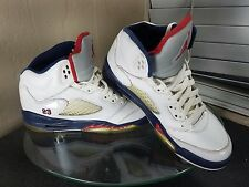 Nike Air Jordan 5 V Retro Olympic GS Boys Size 7Y Independence Basketball Shoes