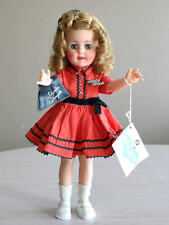 """SHIRLEY TEMPLE 15"""" IDEAL W TAG DOLL SCHOOL GIRL ORIGINAL OUTFIT EARLY 1960'S"""