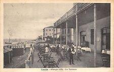 4078) VISERBA (RIMINI) ALBERGO LIDO LA TERRAZZA, ANIMATA. VIAGGIATA NEL 1925.