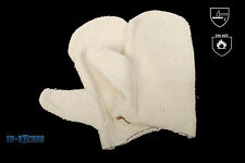 Thermatex Terry-cloth Heat Resistant Safety Mitten Gloves Unisex Large