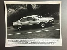 1996 BMW 740iL Sedan Factory Press Photo, Foto RARE!! Awesome L@@K