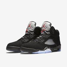 2016 Nike Air Jordan 5 V Retro OG Black Metallic Silver Size 10. 845035-003