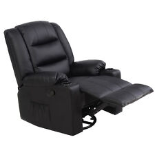Ergonomic Massage Sofa Chair Deluxe Recliner Swivel Lounge Heated w/ Control