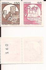 ITALIA 1980 CASTELLI d'ITALIA BLOCCO MOSAICO L. 120+L. 30 numero controllo MNH