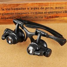 20X Watch Magnifier Jeweler Magnifying Eye Glasses Loupe Len Repair LED Light B2