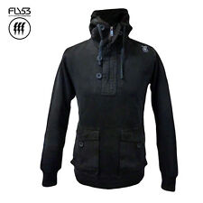 FLY53 MENS GRINCH HOODED HOODIE BLACK (S) - BRAND NEW/TAGS - RRP £70 - SAVE 70%