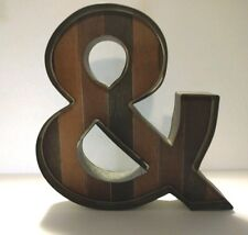 """NEW 16"""" Tall Letter """"&"""" AND Wedding Marquee Metal Wood Vintage Sign Decor"""