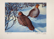IDAHO #2 1989 STATE UPLAND GAME PRINT GRAY PARTRIDGE ARTIST  PROOF no stamps