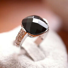 New Square Black Onyx Cristal Ring Personality Models Best Designed High Quality