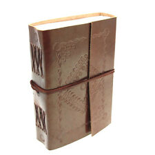 Fair Trade Handmade Medium Eco Embossed Leather Journal Diary Notebook