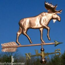 "COPPER   "" HUGE  MOOSE "" WEATHERVANE  MADE IN USA #211"