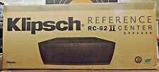 """Klipsch RC-62 II dual 6.5"""" Center Channel Speaker w/uptilt/downtilt feet RC62II"""