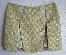 COINCIDENCE & CHANCE (Anthropologie) - Yellow Brocade Above Knee Skirt size 6