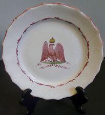 Assiette Faience Aigle Impérial 1er Empire Napoléon Couronne