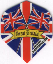 Great Britain PENTATHLON Union Jack Flags Dart Flights: 3 per set