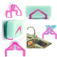 1* Kitchen Suction Cup Sponge Holder Washing Sink Tub Cleaning Spong Dish Cloth