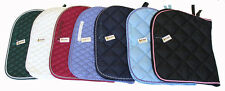 Lot of Four All Purpose Quilted Cotton English Saddle Pads Mixed Color
