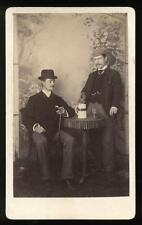 c1890 CDV Two Dandies Sharing Spirits, George Ward, Amersham Photographic Studio