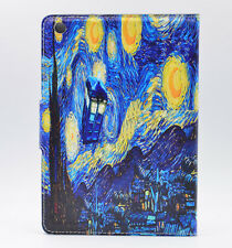 Who Tardis Starry Night Van Gogh Leather Case Stand Cover For ipad mini 1 2 3