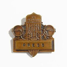 Scarce Olympic Games 1932 Los Angeles Press Badge Pin Medal