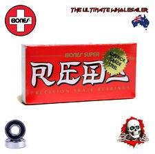 8 x BONES SUPER REDS BEARINGS/ROLLER DERBY/SKATEBOARDS/SCOOTERS *NEW *