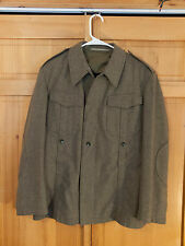 West German Army Olive Drab OD Wool Jacket, Size Small