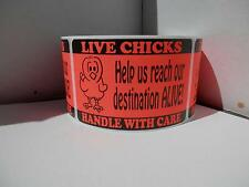 LIVE CHICKS Help us reach our destination ALIVE Hatching Egg red Labels 250/rl