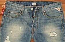 NEU - Replay Jennon - W33 L34 - Blue Destroyed - Jeans  M99 - 33/34