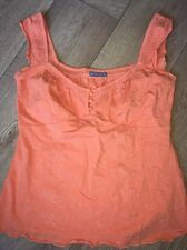 Marks & Spencer Per Una Orange Top Uk 12 Excellent Condition