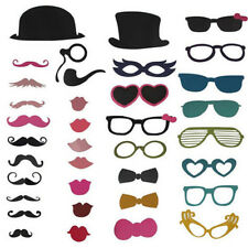 58X Mask Hat Mustache On A Stick Birthday Wedding Party Photograph Prop New In!