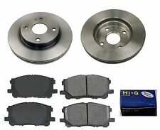 Front Ceramic Brake Pad Set & Rotor Kit for 1999-2000 Mazda Protege DX-LX