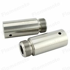 39mm Stainless Fork Tube 3in Extensions For Harley Dyna Glide Sportster XL 1200