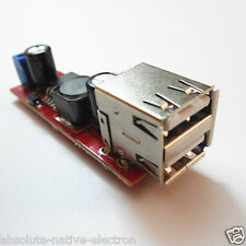 DC 6V-40V to 5V 3A Double / DUAL USB Charger DC-DC Step-down Converter Module