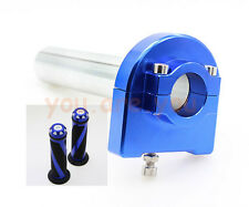 "Blue Universal 7/8"" Hand Grip+Throttle Tube Control Street Motor Bike Scooter"