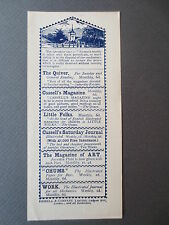 Vintage Bookmark CASSELL & COMPANY Cassell's Magazines Quiver Chums OLD