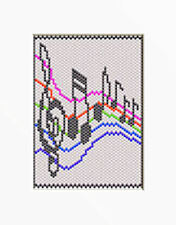 MUSICAL NOTES~PONY BEAD BANNER PATTERN ONLY