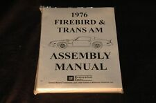 1976 FIREBIRD TRANS AM ASSEMBLY MANUAL 100'S OF PAGES OF PICTURES, PART NUMBERS