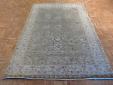 6 x 9 HAND KNOTTED GRAY BAMBOO SILK OUSHAK ORIENTAL RUG G3735