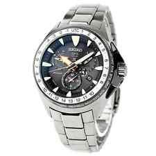New Seiko Prospex Solar GPS Dual-Time Titanium Men's 200m Watch SBED003