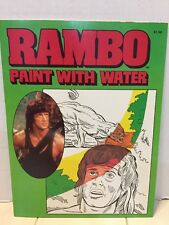 RARE VINTAGE NEW 1985 RAMBO COLORING / ACTIVITY BOOK / PAINT WITH WATER UNUSED